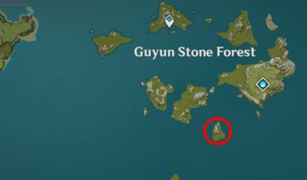 Genshin - Lapis Glede Map Location - Guyun Stone Forest