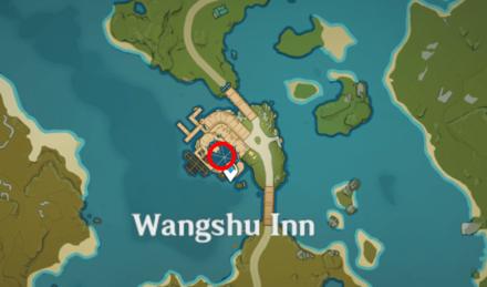 Genshin - Sheriff Cat Map Location - Wangshu Inn