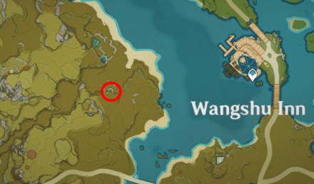 Genshin - Green Horned Lizard Map Location - West of Wangshu Inn