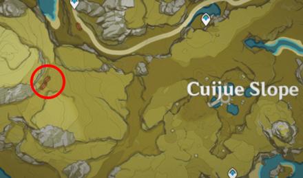 Genshin - Jade-Eyed Cat Map Location - West of Cuijue Slope