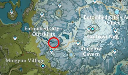 Genshin - Cryo Crystalfly Map Location - Dragonspine