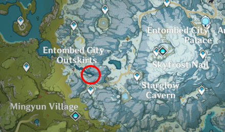 Genshin - Snow Weasel Map Location - Dragonspine