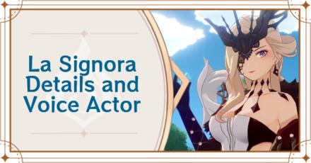 Genshin Impact - La Signora Details and Voice Actor