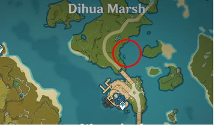 Genshin - Emerald Duck Map Location - Dihua Marsh