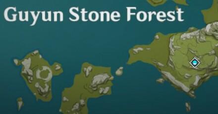 Genshin - Five Flushes - Purple Creature Location - Guyun Stone Forest