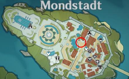 Genshin - Forest-Patrol Hound Map Location - Mondstadt City