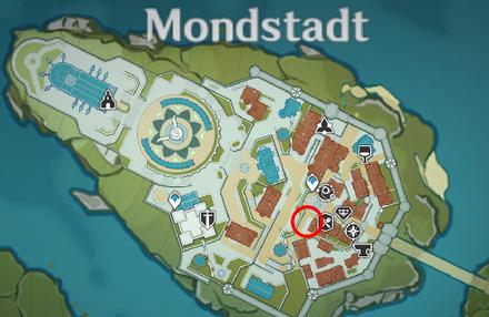 Genshin - Northland Cat Map Location - Mondstadt City