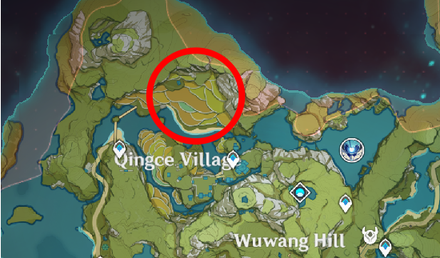 Genshin - Amateur Weasel Thief Map Location - Qingce Village