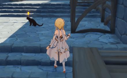 Genshin - Black Cat Location - Jean