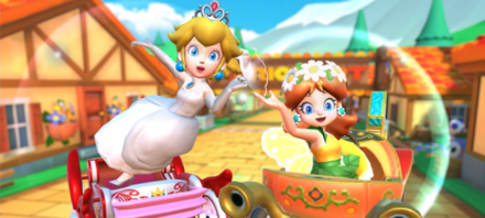 Peach Vs. Daisy Tour All-Clear Gold Pipe - Mario Kart Tour.png