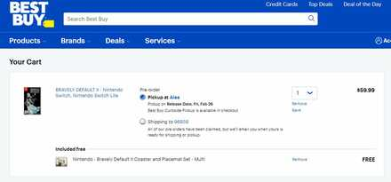 Bravely Default 2 Best Buy Pre-order bonus