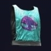 Purple Dragon Neokitsch Muscle Tank with Tungsten Sequins