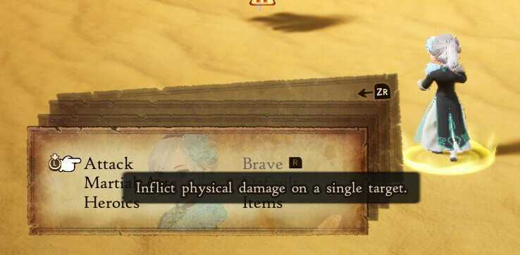 Bravely Default 2 Queued moves