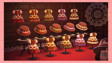 ACNH - Custom Designs - Chocolate Dress and Hat.png