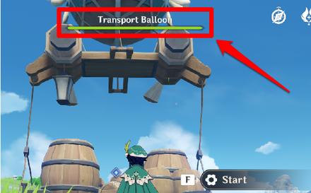 Genshin - Lantern of the Wayfarer - Escort the Slime Transport Balloon