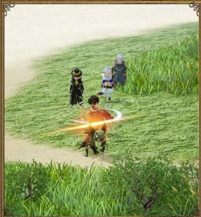 Bravely Default 2 Attacking Enemies in the Map.jpg