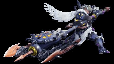 rakna-kadaki male armor and charge blade.png