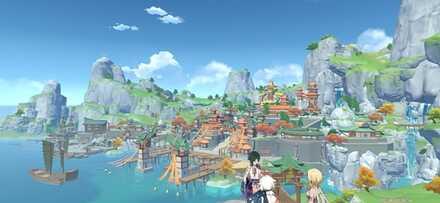 Геншин - Свет на море - За пределами гавани Лиюэ.jpg