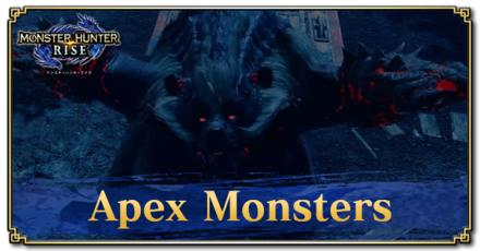What are Apex Monsters?