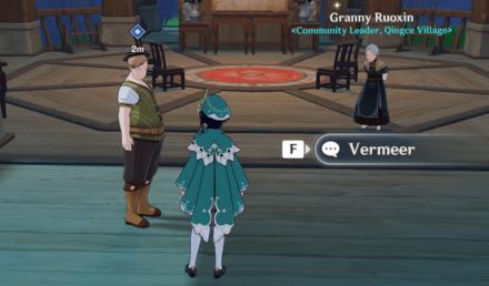 Genshin - Verses and Vistas Part 2 - Talk to Vermeer 2