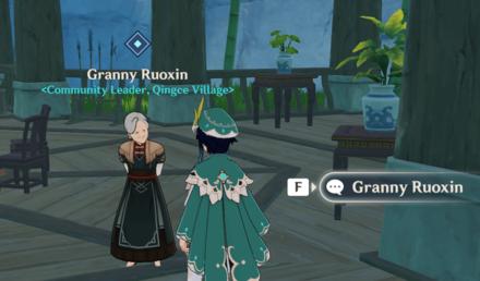 Genshin - Verses and Vistas Part 2 - Talk to Granny Ruoxin
