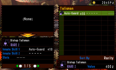 Appraised Talisman