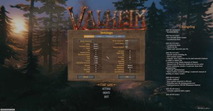 Valheim Controls Temp Banner