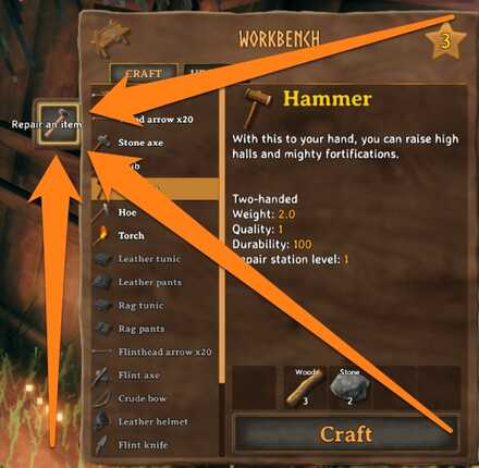 Valheim How to Repair Tools and Gear.jpg
