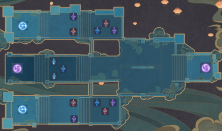 Theater Mechanicus - Stage 5 Wave 5 Tower Map