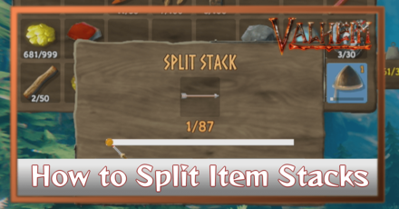 How to Split Stacks to Take One Item