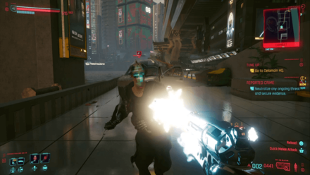 Cyberpunk 2077 - Tech Weapons Combat.png