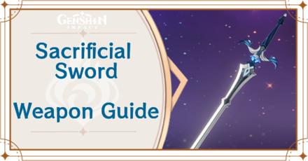 Genshin Impact - Sacrificial Sword Sword