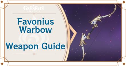 Genshin Impact - Favonius Warbow Bow