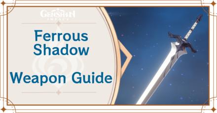 Genshin Impact - Ferrous Shadow Claymore