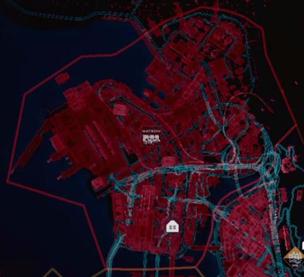 Cyberpunk 2077 - Watson Map.png