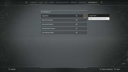 Outriders Controls and Best Settings Guide - Accessibility Large Fonts.jpg