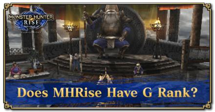 MH Rise G Rank Banner