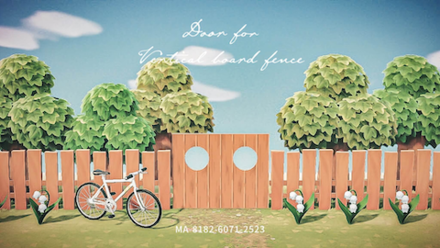 ACNH - Vertical Baord Fence Door