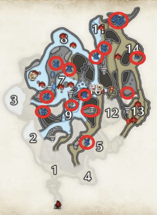 Lava Caverns Firecell Stone Locations - Lower Level.png
