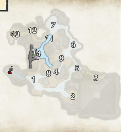 Flooded Forest Snow Beetle Locations