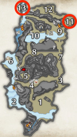 kelbi locations in shrine ruins.png