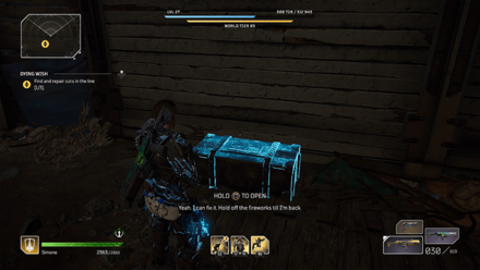 Outriders - Dying Wish Chest Location1