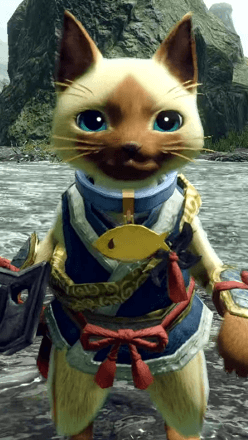 Fish Collar Layered Armor Piece (Separate) (Palico)