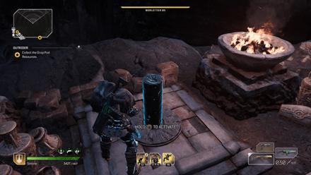 Outriders - Forgotten Chapel First Pillar Location