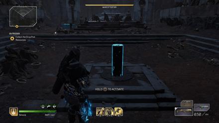 Outriders - Forgotten Chapel Second Pillar Location