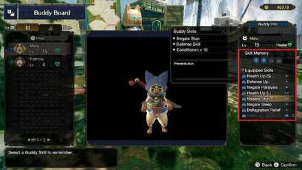 Monster Hunter Rise - Equipping Buddy Skills.jpg