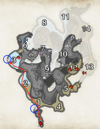 Lava Caverns Fishing Spots Collection Route.png