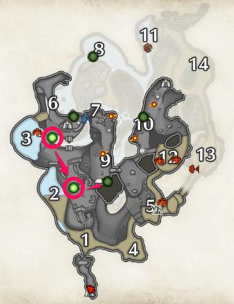 Monster Hunter Rise - Legendary Herb Locations (Upper Level).png