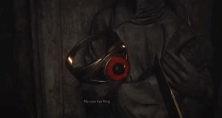 Resident Evil Village Maroon Eye Ring