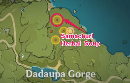 Genshin Impact - Samachurl Herbal Soup Location